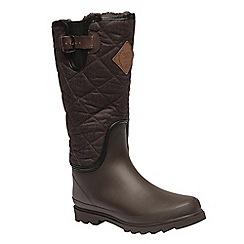 Regatta - Brown 'lady fleetwood' wellington boots