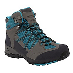 Regatta - Grey/blue samaris mid hiking boot