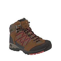 Regatta - Saddle/coral Samaris mid hiking boot