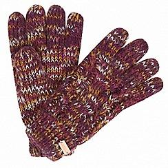 Regatta - Purple 'Frosty' knit gloves