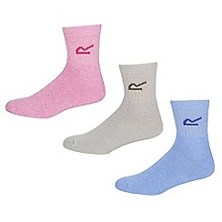 Regatta - Multicoloured womens triple sock set