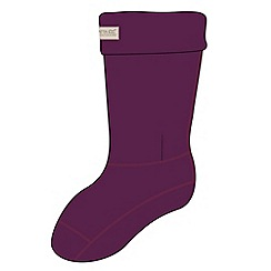 Regatta - Purple fleece welly sock