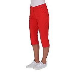 Regatta - Red maakia capri trousers