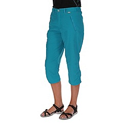 Regatta - Teal chaska capri trousers