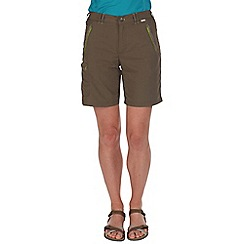 Regatta - Green chaska lightweight shorts