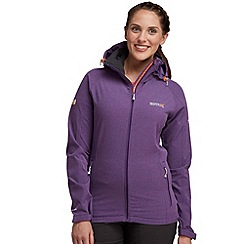 Regatta - Purple trista softshell jacket