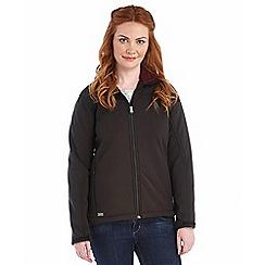 Regatta - Black tulsie softshell jacket