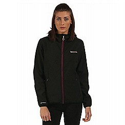 Regatta - Black/purple arec sporty hooded jacket