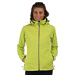 Regatta - Lime green Desoto softshell jacket