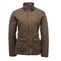 Regatta - Dark khaki missy quilted jacket