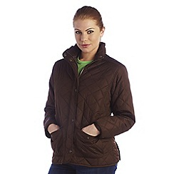 Regatta - Chocolate missy quilted jacket