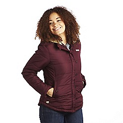 Regatta - Dark burgundy wintertime quilted jacket