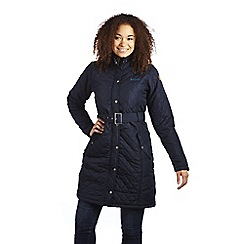 Regatta - Navy audrey quilted water resistant mac