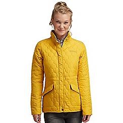 Regatta - Yellow mollie quilted jacket