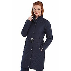 Regatta - Navy cordelette quilted mac