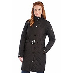 Regatta - Black cordelette quilted mac