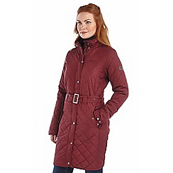 Regatta - Fig cordelette quilted mac