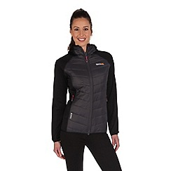 Regatta - Black/grey andreson showerproof jacket