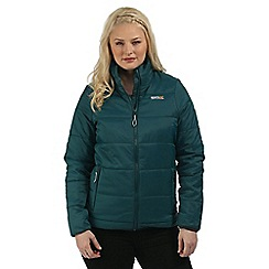 Regatta - Teal Zyber showerproof quilted jacket