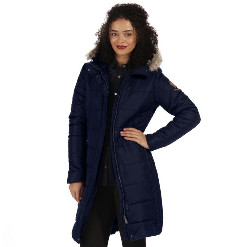00a53e847f282 Regatta - Blue  Fermina  Parka Jacket