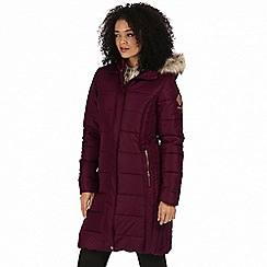 Regatta - Purple 'Fermina' parka jacket