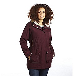 Regatta - Dark burgundy foxtail waterproof parka