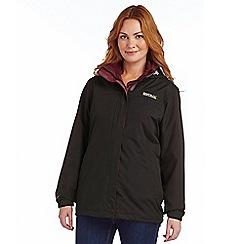 Regatta - Black preya 3 in 1 waterproof jacket