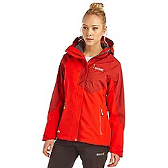 Regatta - Red sonora 3 in 1 waterproof jacket