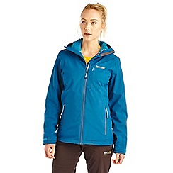 Regatta - Blue wrightbridge 3 in 1 waterproof jacket
