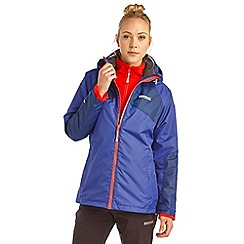 Regatta - Purple alabama 3 in 1 waterproof jacket