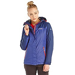 Regatta - Purple sawel waterproof jacket