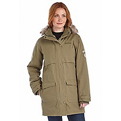Regatta - Khaki spiritsail waterproof cotton touch parka