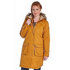 Regatta - Yellow lillier waterproof jacket