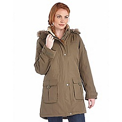Regatta - Khaki paso waterproof insulated parka
