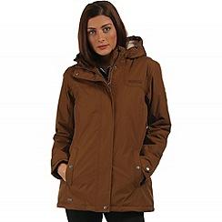 Regatta - Brown Brodiaea waterproof jacket