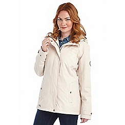 Regatta - Vanilla brodiaea waterproof jacket