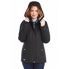 Regatta - Black brodiaea waterproof jacket