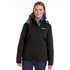 Regatta - Black kenzie waterproof jacket