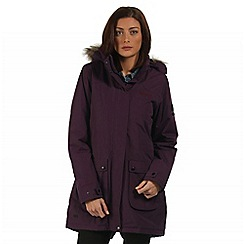 Regatta - Purple Schima waterproof parka