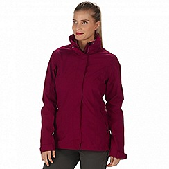Regatta - Pink 'Calyn' 3-in-1 waterproof jacket