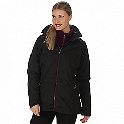 Regatta - Black 'Premilla' 3-in-1 waterproof jacket