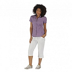 Regatta - Purple Honshu short sleeved shirt