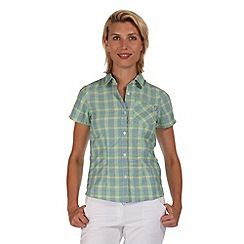 Regatta - Teal mindano short sleeved shirt