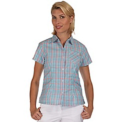 Regatta - Blue mindano short sleeved shirt