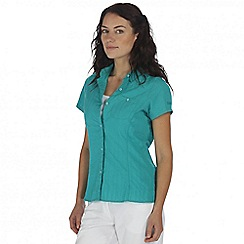 Regatta - Teal jerbra short sleeved shirt