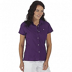 Regatta - Purple jerbra short sleeved shirt