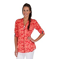 Regatta - Coral red madison smock top