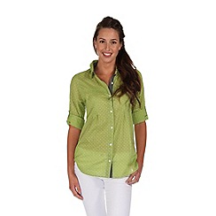 Regatta - Green mondara button through shirt