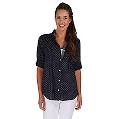 Regatta - Navy mondara button through shirt