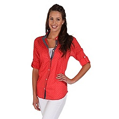 Regatta - Coral blush mondara button through shirt